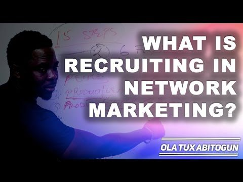 What is recruiting in network marketing?