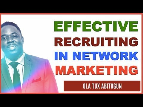 How to Effectively Recruit in Network Marketing in 3 P's