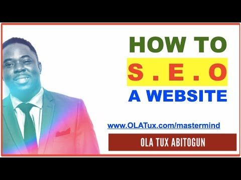 How to SEO a Website! The 3 Main Elements