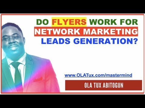 Do Flyers Work for Network Marketing Leads generation?