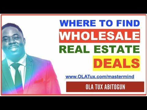 Where to Find Wholesale Real Estate Deals