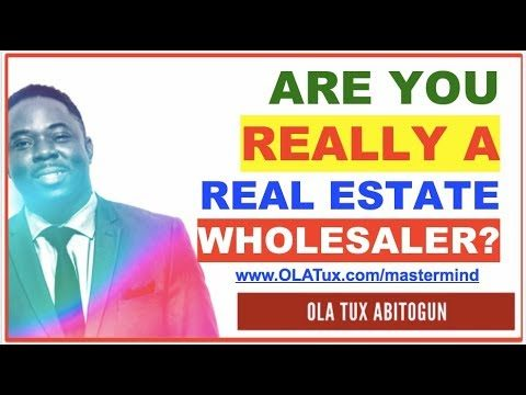 Fooling Yourself by Calling Yourself Real Estate Wholesaler