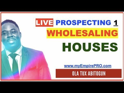 Wholesaling Houses Starts Like This… myEmpirePRO LIVE PROSPECTING S1E1