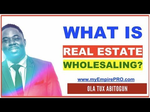 What is Real Estate Wholesaling & Wholesaling Houses?