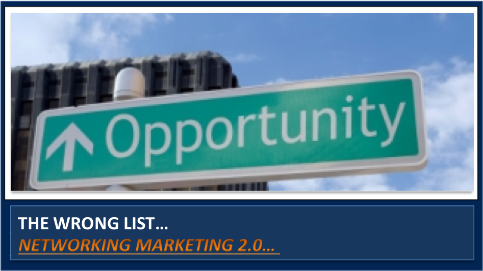 Want to see a list of network marketing companies?