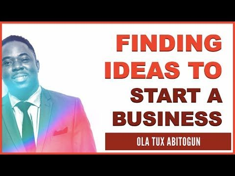 How to come up with ideas to start a business