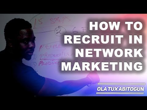 How to recruit in network marketing