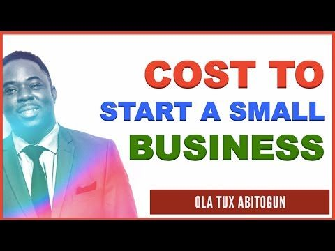 How Much Would it Cost to Start a Small Business