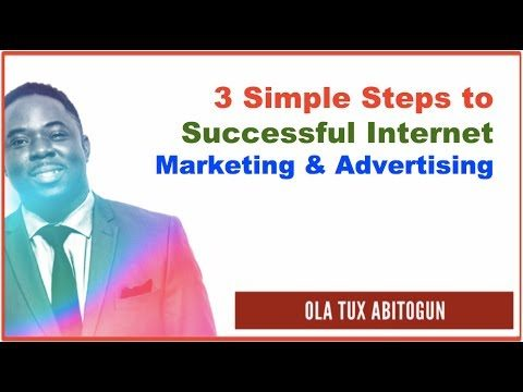 3 Simple Steps to Successful Internet Marketing and Advertising