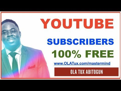 How to Get YouTube Subscribers – 100% FREE!