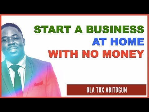 How to Start a Business at Home with NO Money