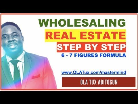 🎀  Wholesaling Real Estate Step by Step – [6 to 7 Figures Formula]
