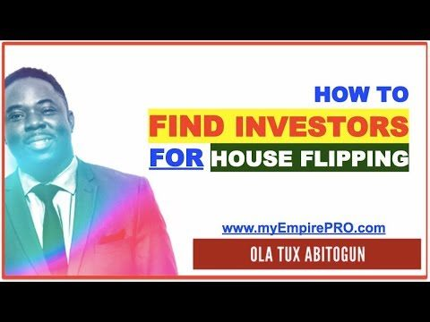 How to Find Investors for House Flipping to Pay you $10K-$20K Per Deal