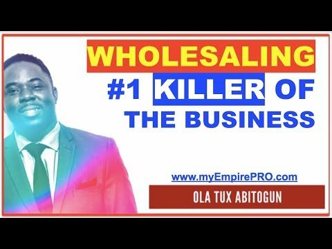 REAL ESTATE WHOLESALING ➡️ #1 Killer of a Wholesaling Business