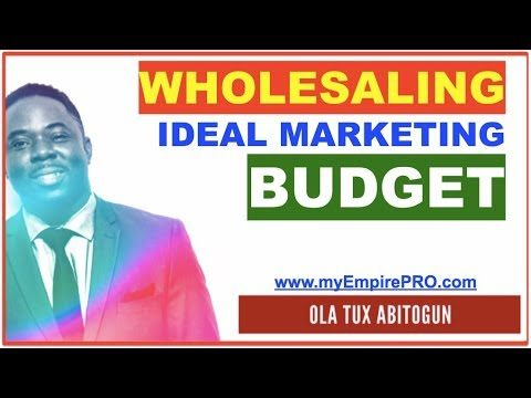 REAL ESTATE WHOLESALING ➡️ Ideal Marketing Budget