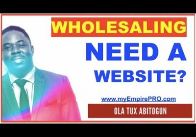 WHOLESALING REAL ESTATE ➡️ Is it important to have a website?