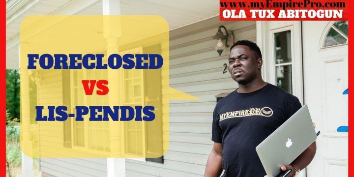 FORECLOSED VS LIS-PENDIS📍 Wholesaling Pre-Foreclosures