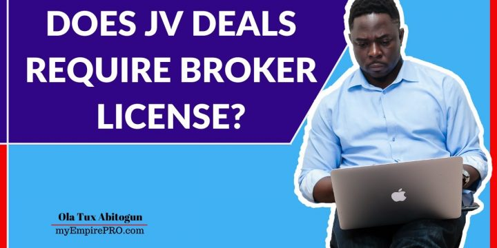 DOES JV DEALS REQUIRE BROKER LICENSE? 📍 Wholesale Real Estate